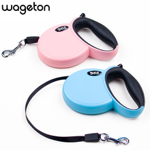 DELE Retractable Leash 3 Meters Flexible Dog Puppy Cat Lead Leashes Sport Collars New Automatic Traction Rope Pet Products(China)