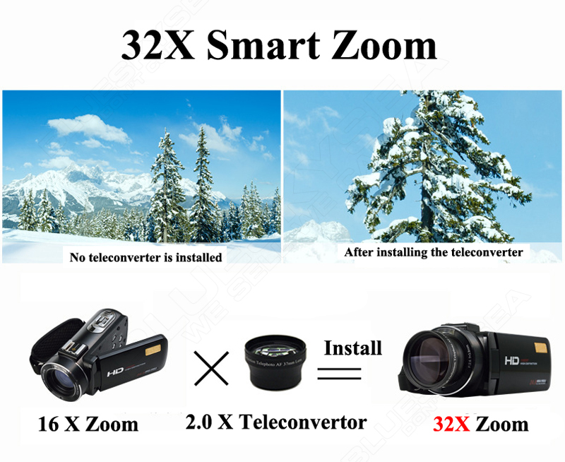 """ORDRO HDV-Z Digital Video Camera Camcorder 3.0"""" Touch Screen 1080P Full HD 16X Zoom 24MP Face Detection LED Fill-in Light DV 7"""