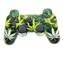 Wireless Controller Double Vibration Sixaxis Joystick Joypad Gamepad For Playstation 3 PS3 (Leaf)