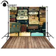 Allenjoy photography backdrop trunk Box Wooden floor Retro baby shower children background photo studio photocall