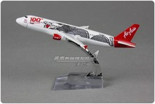 Brand New 1/250 Scale Airplane Model Toys Asia Air Dragon Pattern Airbus A320 100th 16cm Diecast Metal Plane Model Toy For Gift(China)