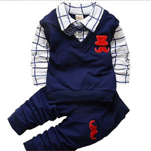 BibiCola spring autumn Baby Boy Clothes Set Children Clothing Sets Products Kids Clothes Baby Boys T-shirts+Pants 2PCS Tracksuit(China)