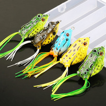 Sougayilang 5pcs/lot Frog Lure with Box 9-13g 4 Colors Soft Fishing Lure 10cm Plastic Topwater Simulation Frog Artificial Baits