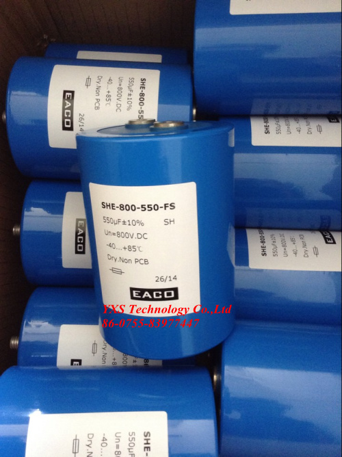 free shipping!!! 1pcs EACO SHE-800-550-FS 86*120mm 550UF 800VDC capacitor<br><br>Aliexpress