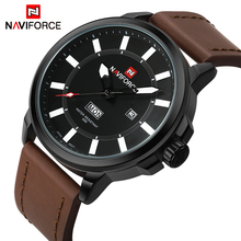 Luxury Brand NAVIFORCE Men Sports Waterproof Watches Men's Quartz Date Clock Army Military Leather Wrist Watch Relogio Masculino