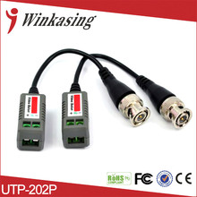 Twisted BNC CCTV Video Balun passive Transceivers UTP Balun BNC Cat5 CCTV UTP Video Balun up to 1500m active UTP video receiver(China)