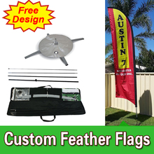 Free Design Free Shipping Single Sided Flags Banners Cross Base Cheap Outdoor Flags Banners Wind Banner Feather Sign