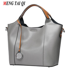 Luxury Handbags Women Bags Designer Genuine Leather Bags Women Messenger Shoulder Bags Ladies 2017 Vintage Tote 6 Colors 2 Pcs 3(China)