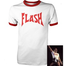 MEN'S T SHIRT FREDDIE MERCURY FLASH GORDON QUEEN ROCK BAND TSHIRT RETRO HIP HOP  FANCY DRESS 80's TOP TEE FRONT&BACK PRINTING