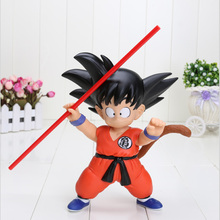 8.3inch 21cm Anime Dragon Ball Hand pvc Toys Goku Model Toys Dragon Ball z figure Christmas Gifts For Children(China)