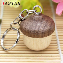 JASTER 100% real capacity Squirrel nut Wooden pendrive   usb 2.0  4GB 8GB 16GB 32GB Version memory flash stick pen drive