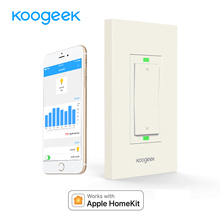 Koogeek Wifi Switch Smart Light Dimmer for Apple HomeKit Siri Remote Control Wall Switch Monitor Power Consumption[Only for IOS](China)