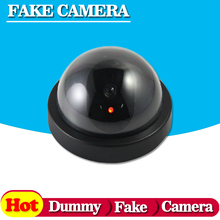 Surveillance Dummy Flash Blinking LED Fake dome camera home CCTV Security Simulated video Surveillance fake camaras de seguridad(China)