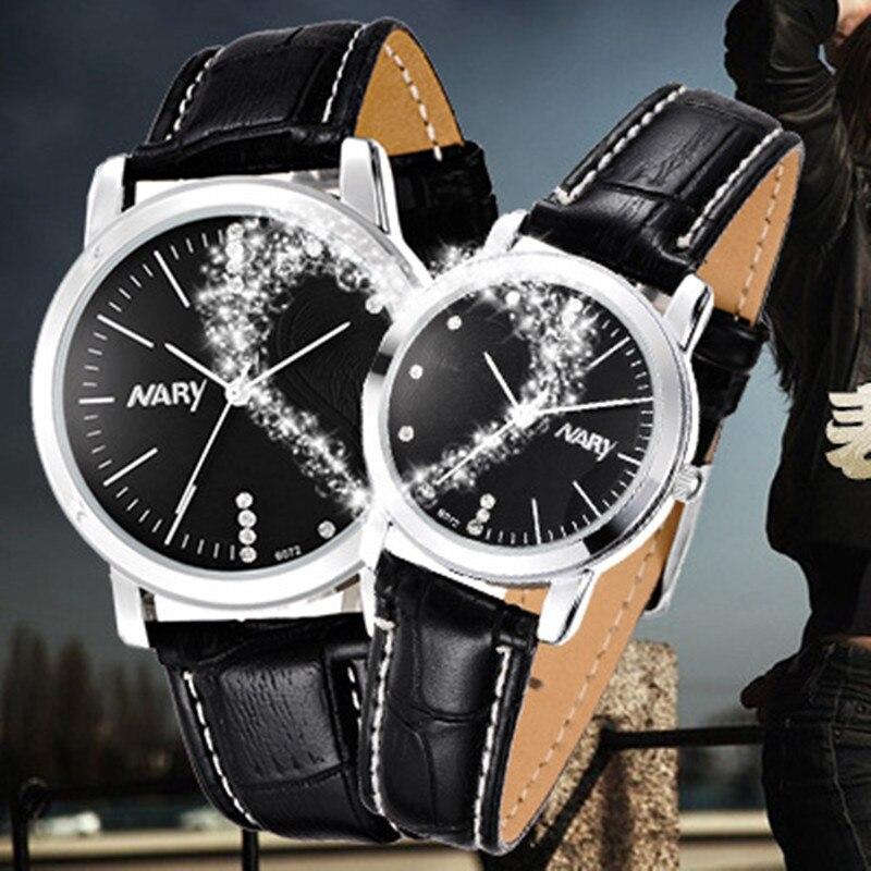2017 Nary quartz watch women Fashion classic couple models waterproof mens watches top brand luxury Magic Heart Shape relogio<br><br>Aliexpress