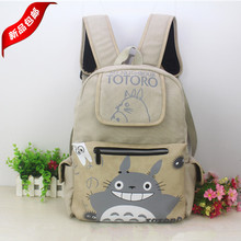 Tonari no Totoro Cartoon printing College schoolbags Shoulders backpack canvas bags Totoro Casual fashion man woman backpack
