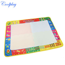 Coolplay CP1381 80X60cm Big Size 4colors Baby Water Drawing Mat with 1 Magic Pen Drawing Toys Mat /Doodle Mat/Play Rug For Kids(China)