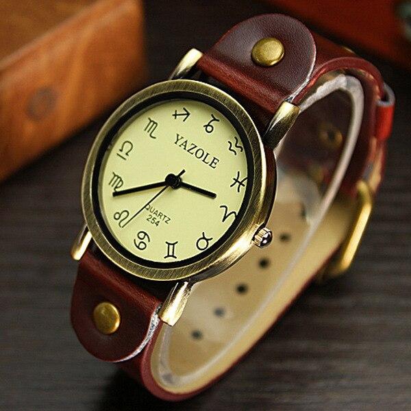 2016 new Fashion Women Casual Watch constellation Pattern wristwatch for Girl Students Quartz cartoon watch clock hours relojes<br><br>Aliexpress