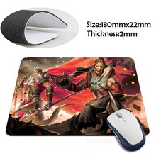 darius and draven league of legends Rubber Soft aming Mouse ames Black Mouse pad