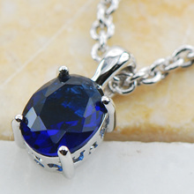 Blue Crystal Zircon  925 Sterling Silver  Stud Pendant  PP02 This item  Min order is $10 Lab Gemstone CZ Crystal Zircon