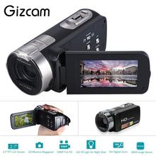 Gizcam Digital Video Camera Full HD 1080P 16x 20 MP Portable Camcorders Home-use DV with 2.7 Inch Rotating LCD Screen