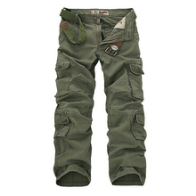 Tactical Pants Fashion Designer Camouflage Cargo Pants Men Army Green Loose Multi Pockets Cotton Men Trousers Army Work Pant 42(China)