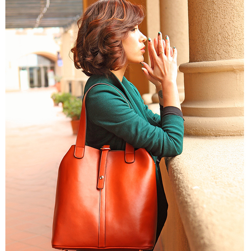 Genuine leather fashion women handbag vintage women bag casual shoulder bags women tote office shopping bolsas femininas<br><br>Aliexpress