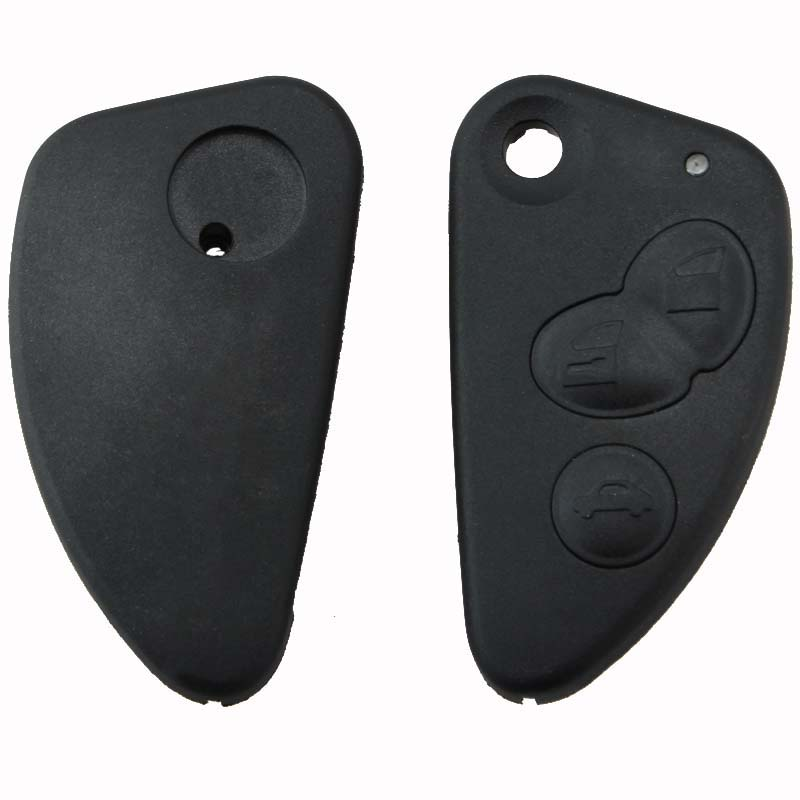 Mayitr New 3 Button Flip Remote Car Key Fob Case Shell for Alfa Romeo 147 156 166 GT JTD TS