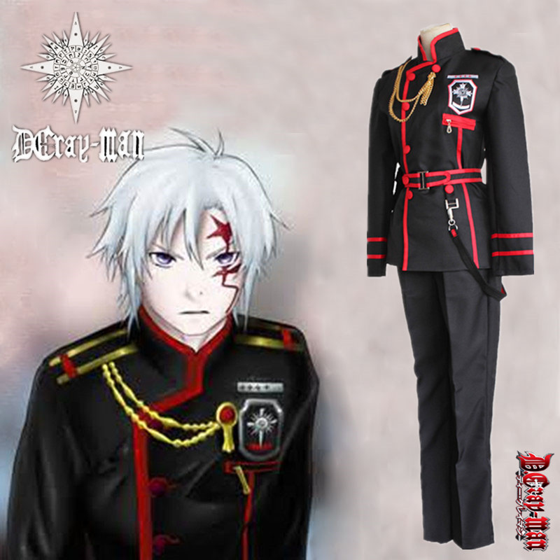 Japanese Anime D.Gray-man Allen Walker Role Cosplay Costumes Clothes Full Set Uniform