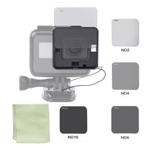 Square ND Lens Filter Protector Kit Set (ND2/ND4/ND8/ND16) for GoPro Hero 5 Naked Camera w/ Mounting Frame Holder(China)