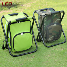 Leo 36x31x44CM Multifunctional Foldable Portable Cooler Bag Chair Backpack Fishing Stool Chair for Outdoor Sports Fishing Tackle(China)