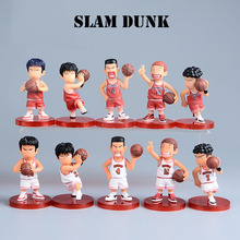 Japanese Anime Figuras Slam Dunk PVC 10PCS Mini Set Action Figure Adult Hot Dolls Christmas Kids Toys Birthday Boys Toy(China)