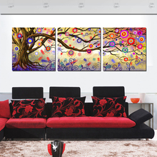 3 Panel Wall Art Painting Abstract Tree Color Wall Pictures for Bedroom Decor Abstract impressionist Paintings Prints No Frames