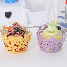 50pc Little Lace Laser Cut muffin Cupcake Wrapper Liner Baking Cup For Home Wedding/Birthday/home/Christmas Party Decoration