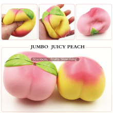 1PCS 11CM Jumbo kawaii Squishy Slow Rising Peach Pendant Phone Straps Charms Queeze Kid Toys Cute squishies Bread Free Shipping