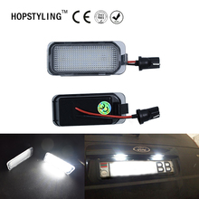 Car styling 2x Error Free led rear license plate light For Ford Fiesta JA8 Focus DA3 Focus DYB S-max C-max Mondeo Kuga auto lamp(China)