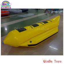 Exciting water sport inflatable flying boat ,single tube 3 persons inflatable water banana boat(China)