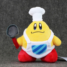 19cm Cute Kirby Plush Toy Kawaii Cook Kirby with Pan Stuffed Doll for children's Great Birthday Gift(China)