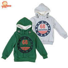 3 4 5 6 7 8 9 10 Year Boys Hoodies Thicken Warm Autumn Winter Childrens Outerwear Letter Printed Kids Jackets for Boys(China)