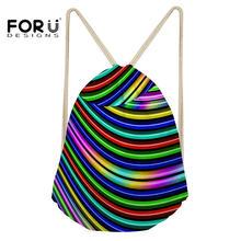 Forudesigns bolsa de cordón pequeño deporte gymsack para mujeres fitness al  aire libre Cambray impreso Yoga mochila bolsa fe1623aebf1cd