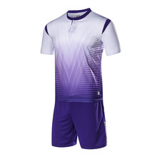 100%Polyester Adult Man Survetement Football Training Suits Women Soccer Jersey Set Futbol Jersey Sport shirts shorts Tracksuit(China)