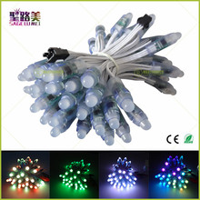 Wholesale 50 Pcs string 12mm WS2811 2811 IC LED Pixels Module String Light White Wire cable IP68 5V Holidays/Chrismas/ Festival