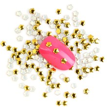 1000PCS/LOT Gold Metal Star Nail Art Decorations Manicure Nail DIY Charms Cheap Nail Stud Jewelry Accessories Supplies WY334