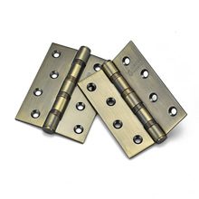 1 Pair 4 Inch Stainless Steel Door Hinges Wood Doors Cabinet Drawer Box Interior Hinge Furniture Hardware Accessories HG(China)