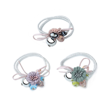 Fashion Women Girls Hair Band Jewelry Accessories Elastic Rubber Bands Headdress Metal Bead Heart Stone Plastic Flowets Headband