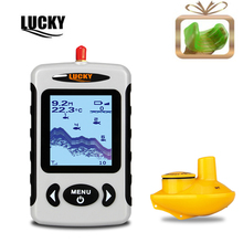 LUCKY Ffw718 Manufacturers Sonar depth River Lake Sea Contour Thermometer Russian Wireless Fishfinder Fish Finder