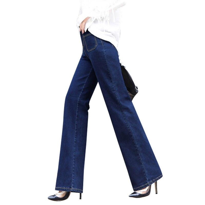 2017 New vintage High waist Blue bell-bottom mid waist slim butt-lifting boot cut wide leg flare womens jeansÎäåæäà è àêñåññóàðû<br><br>