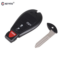 KEYYOU 3+1 Panic 4 Buttons Smart Remote FOB Key Car Keyless For Dodge Charger Magnum Challenger Chrysler 300 2008-2012(China)