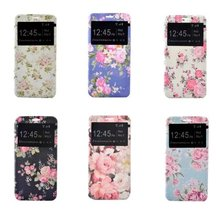 hot flowers Rose Peony display time Blue Pink Green Black leather case cover for samsung note 7 free shipping