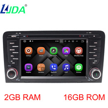LJDA 2DIN ANDROID7.1 Auto Radio Car DVD Multimedia Player For AUDI A3 S3 2002-2013 GPS Navigation CANBUS Bluetooth stereo Radio(China)