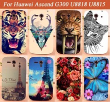 Cool Animals Flowers Towers design Hard Back Case for Huawei Ascend G300 U8818 U8815 phone Cover For Huawei G300 U8818 U8815